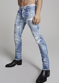 S71LB0707-S30309 Rainbow Cool Guy Jeans