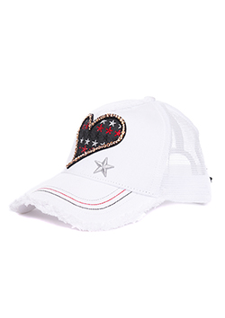 スターリアン SWALLOW HEART MESH CAP WHITE