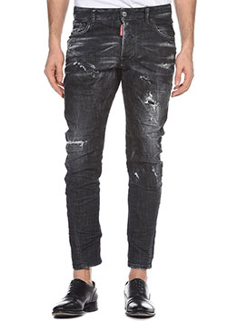 DSQUARED2 Thunder Storm Wash Tidy Biker Jeans BLACK