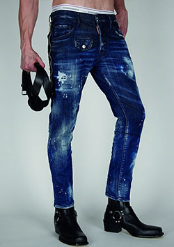 DSQUARED2 DARK WASH 2 SKATER JEAN