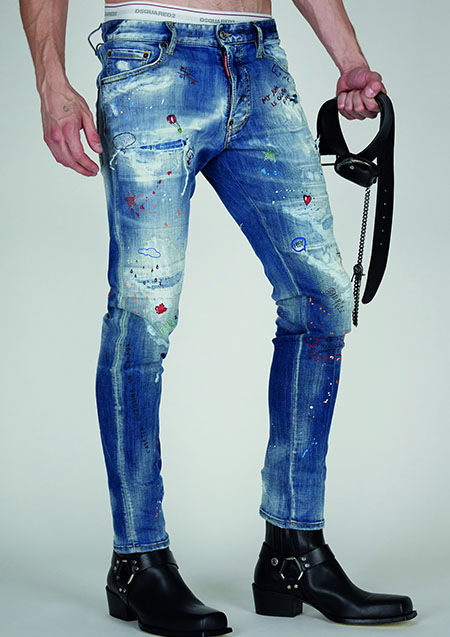 DSQUARED2 TRASH LIGHT SKATER JEAN
