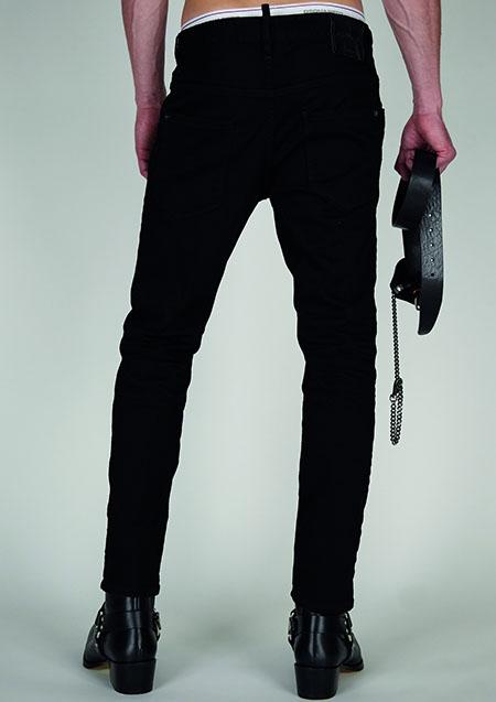 DSQUARED2 BLACK BULL SUPER STRETCH SKATER JEAN