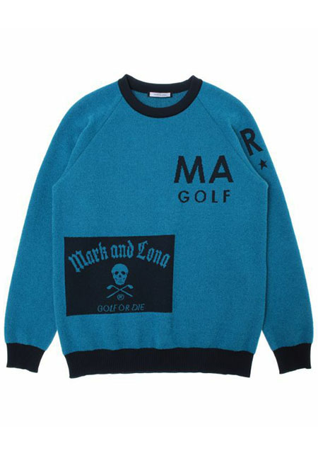 【メンズ】Hype Block Crew Sweater blue| MEN