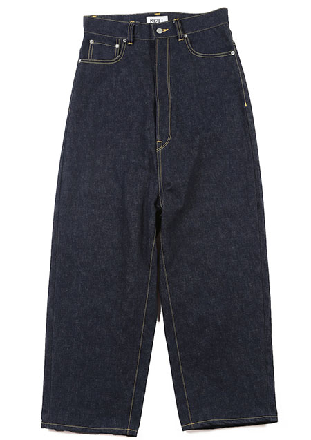 KIDILL Wide Tapered Denim Pants - INDIGO
