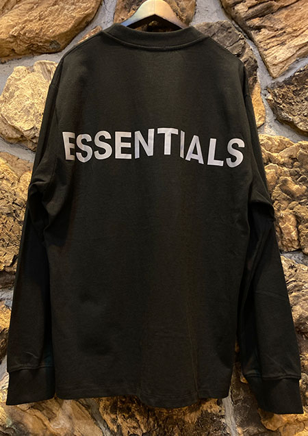 FOG ESSENTIALS RLCT LOGO LS TEE - BLACK