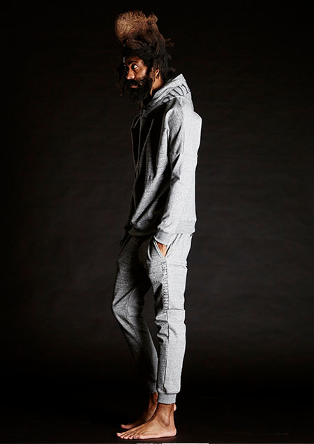 113 RONE Crazy Gray Sweat Pullover Hoodie-GRAY