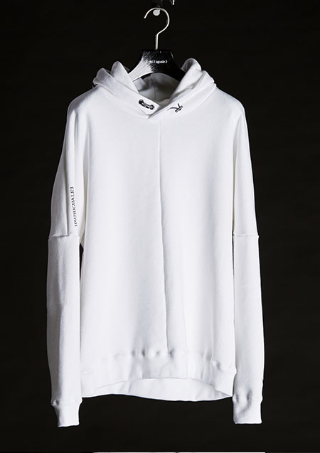 113 RONE WHITE Sweat Pullover Hoodie-WHITE