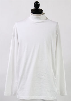 Y-3 MOCK NECK L/S TEE - CORE WHITE