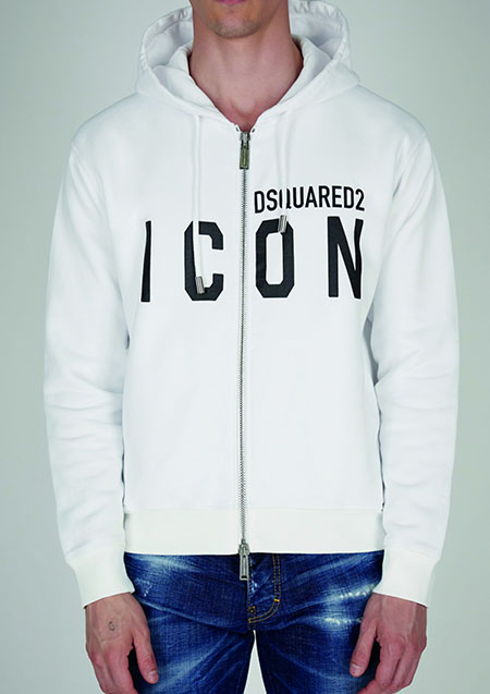 DSQUARED2 ICON SWEAT ZIP PARKA