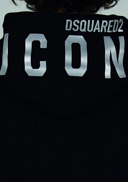 DSQUARED2 ICON SWEAT PULLOVER HOODIE