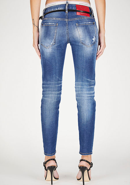 DSQUARED2 LADIES LIGHT WASH 2 JENNIFER CROPPED JEAN