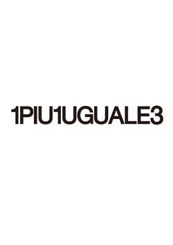 1PIU1UGUALE3 R[10]113 MONO FACE BIG V NECK - 99BLACK