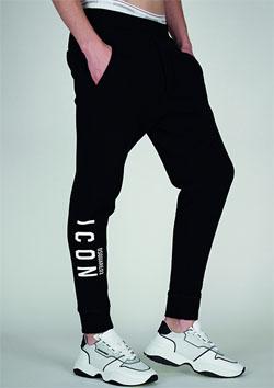 DSQURED2 LEG ICON SWEAT PANTS - 968BLACK