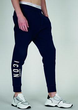DSQURED2 LEG ICON SWEAT PANTS - 972NAVY