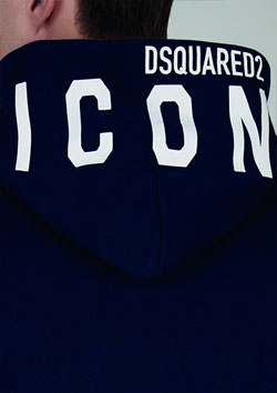 DSQUARED2 ICON PULLOVER PARKA - 972NAVY