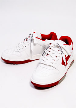 OFF-WHITE Out Of Office Sneakers Red