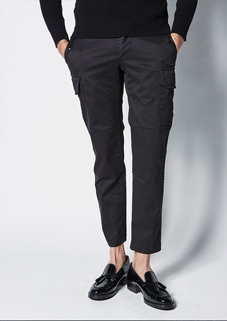 1PIUU1UGUALLE3 BLACK MILITARY M-64 FRENCH ARMY PANTS