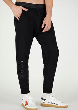 DSQUARED2 ICON SWEAT PANTS   BLACK