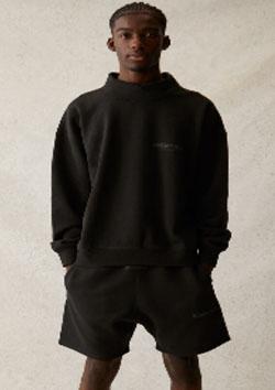 FOG ESSENTIALS HI NECK SWEAT SHIRTS | BLACK