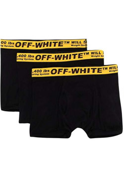 OFF-WHITE TRIPACK CLASSIC INDUSTRIAL BOXER | BLACK Y