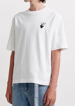 OFF-WHITE HAND OW LOGO S/S SKATE TEE | WHITE BLACK