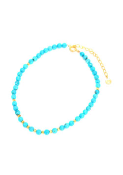 A.O.I TURQUOISE ANKLET