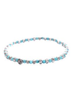 A.O.I CORSS TURQUOISE ANKLET