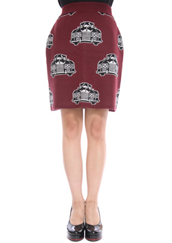 ROYAL RIDE KNIT MINI TUBE SKIRT