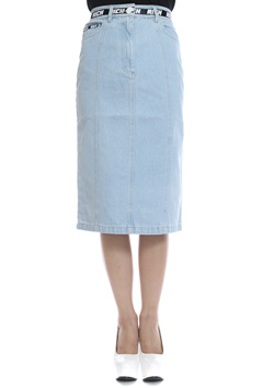 RICH BAND DENIM LONG SKIRT