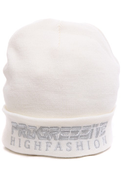 PROGRESSIVE SILVER EMBROIDERED BEANIE