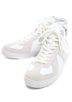 GERMAN TRAINER HI COW LEATHER SNEAKER