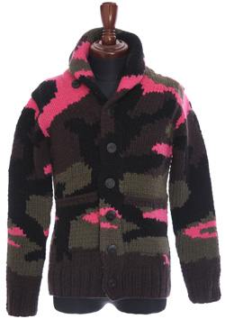 SHAWL CARDIGAN BIG CAMO
