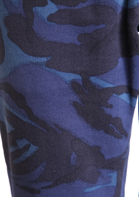 CAMO PRINT SWEAT DENIM ANKLE CUT
