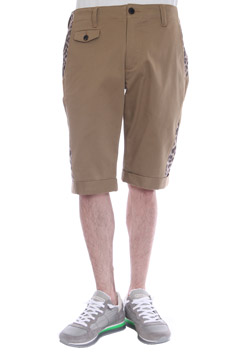 STRETCH COTTON TWILL / ORIGINAL PRINT URAKE 3D CHINO SHORTS