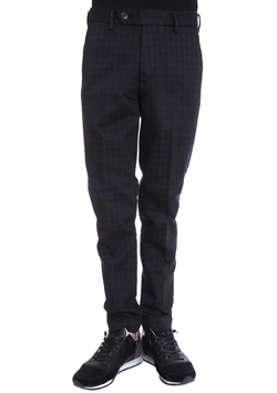 1PIU1UGUALE3 HOUNDTOOTH N E W WAVE TROUSERS