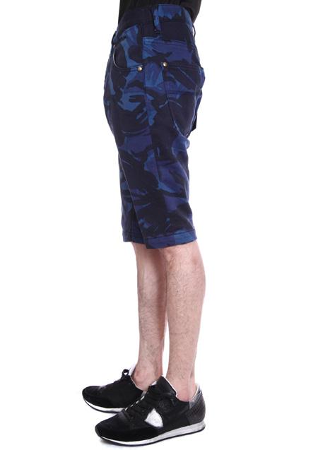 CAMO PRINT SWEATDENIM TIGHT SLIM SHORTS