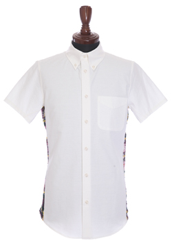 1PIU1UGUALE3  3D 113 B.D S/S DRESS SHIRT