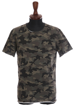 ORIGINAL STRETCH URAKE CAMO V-NECK T