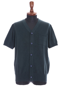 AIR WOOL BIG SHORT-SLEEVED CARDIGAN