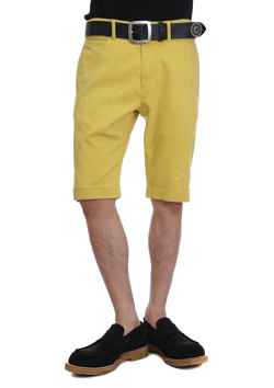 AKM PAINTED HIGH POWER STRETCH TWILL PAINTED HIGH POWER STRETCH TWILL TAPERED SHORTS