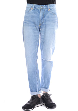 SEVESKIG DENIM PANTS-MODEL014-HARD USED