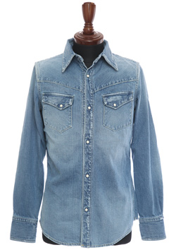 USED DENIM SHIRT