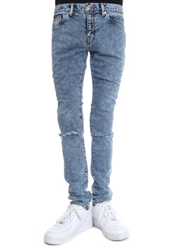 WVM FIRST LINE DENIM CHEMICAL DAMAGE DENIM PANTS