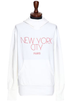 attack the mind 7 NYC PARIS STRETCH PULLOVER PARKA